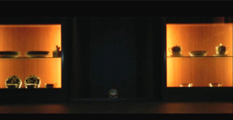"""Geun Sae coming up the dark stairs in """"Parasite"""""""