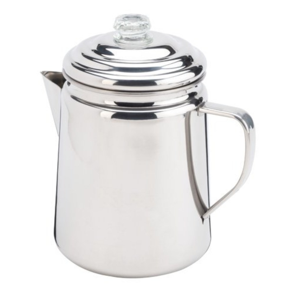 the stainless steel percolator