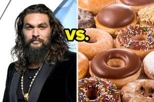 Jason Momoa and doughnuts