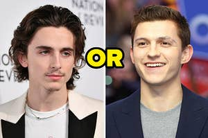 Images of Timothee Chalamet and Tom Holland
