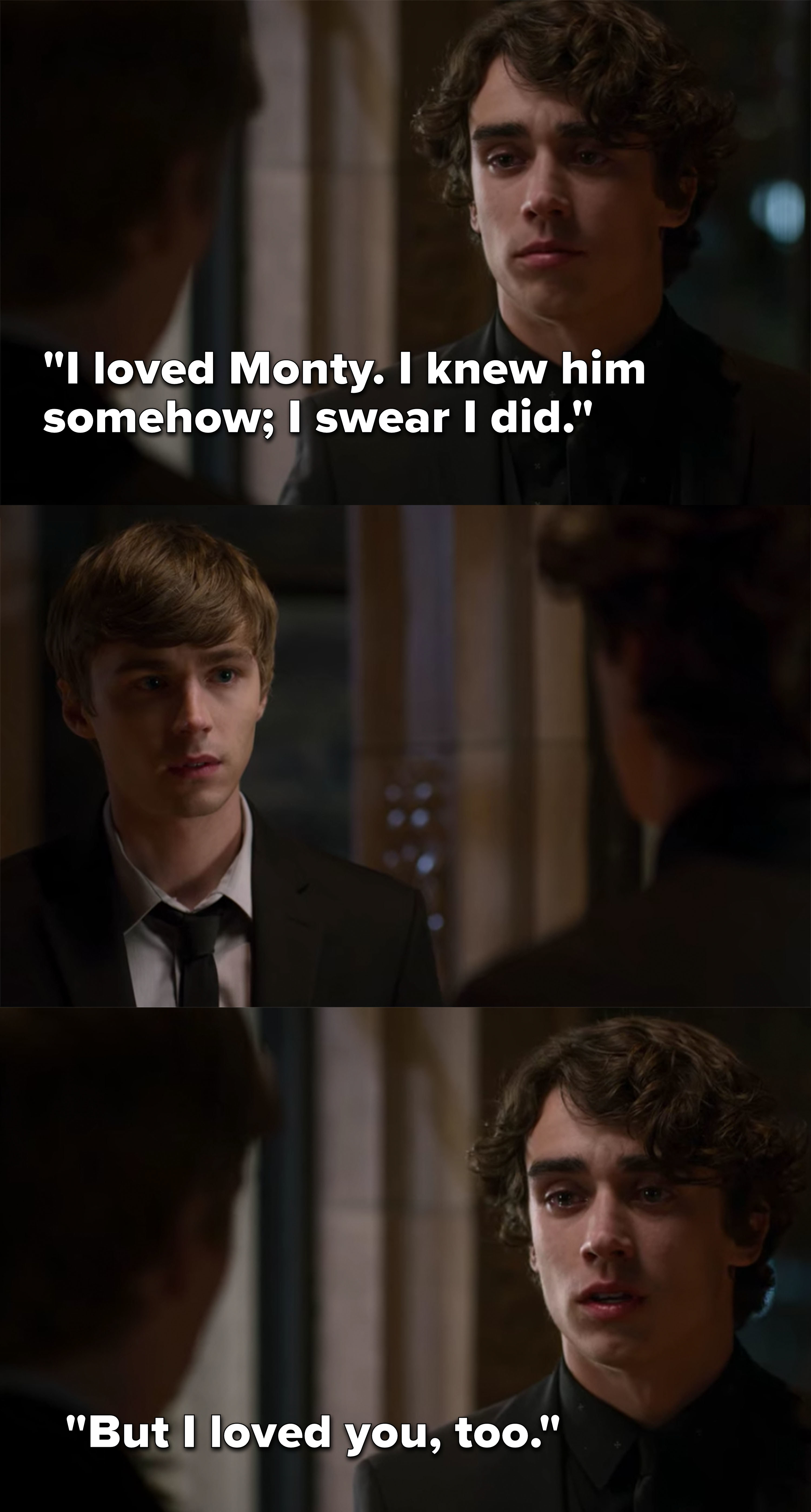 "Winston to Alex: ""I loved Monty, I knew him somehow, I swear I did, but I loved you too"""