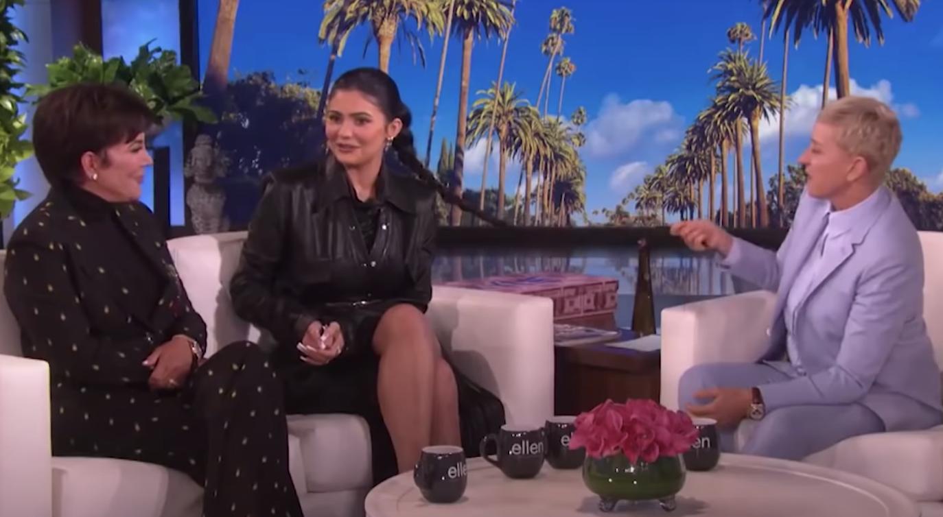 Ellen grabbing Kylie Jenner's hair