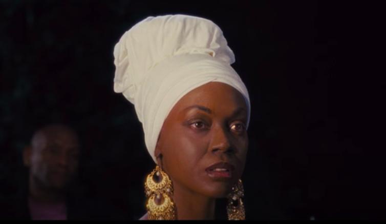 "Zoe Saldana as Nina Simone in ""Nina"" staring into the distance"