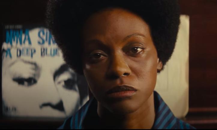 """Zoe Saldana as Nina Simone in """"Nina"""" looking sad"""