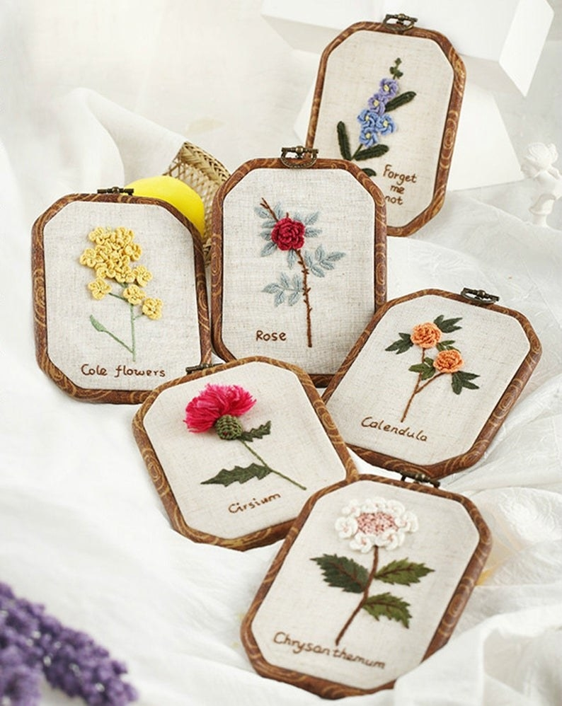 the embroidered wall hoops