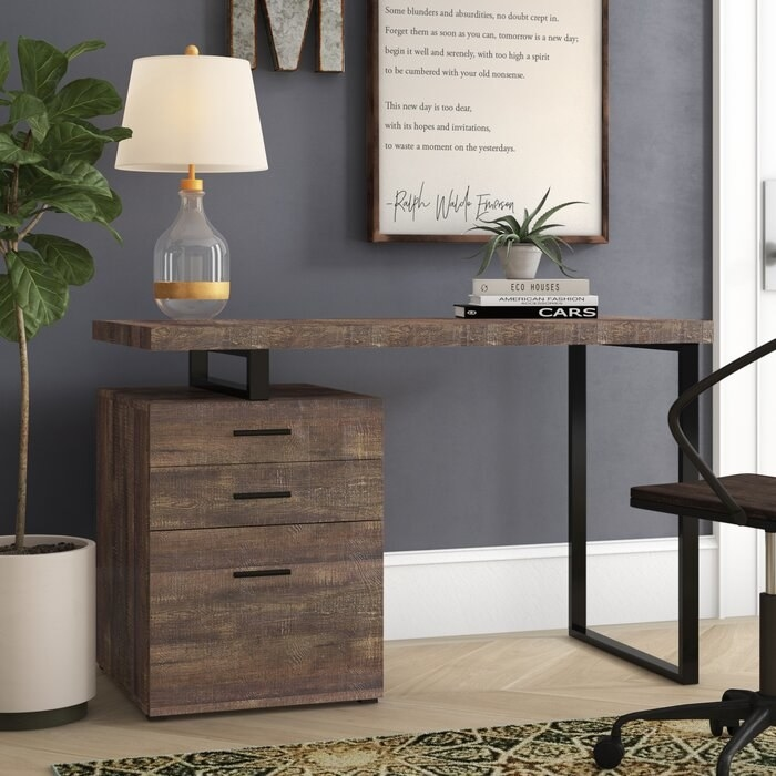 The Jamal Credenza desk in a display office