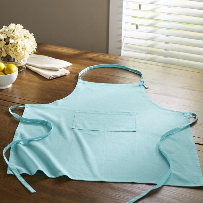 The apron in aqua
