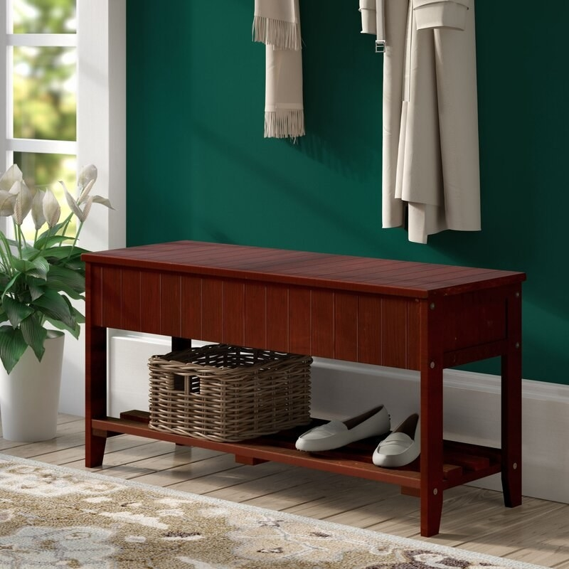 The storage bench in cherry