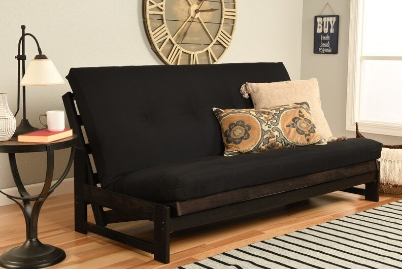 The futon in a living room