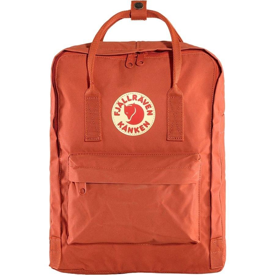 Fjallraven Kanken 16L Backpack in a orange red color