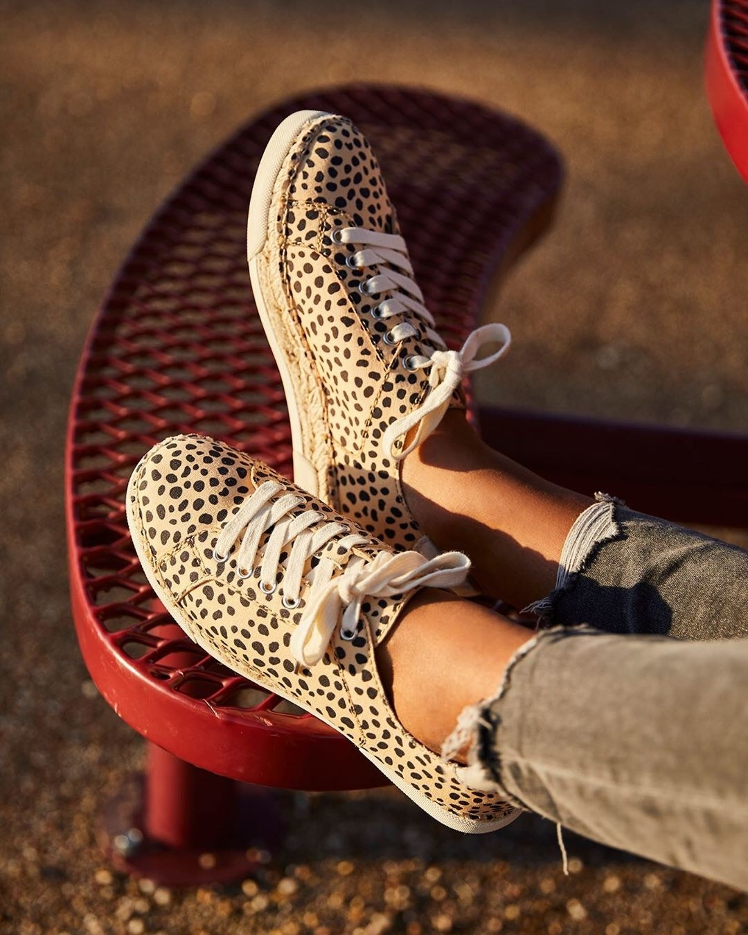 The cheetah print sneakers