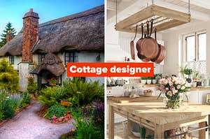 cottage and a cottage kitchen: cottage designer