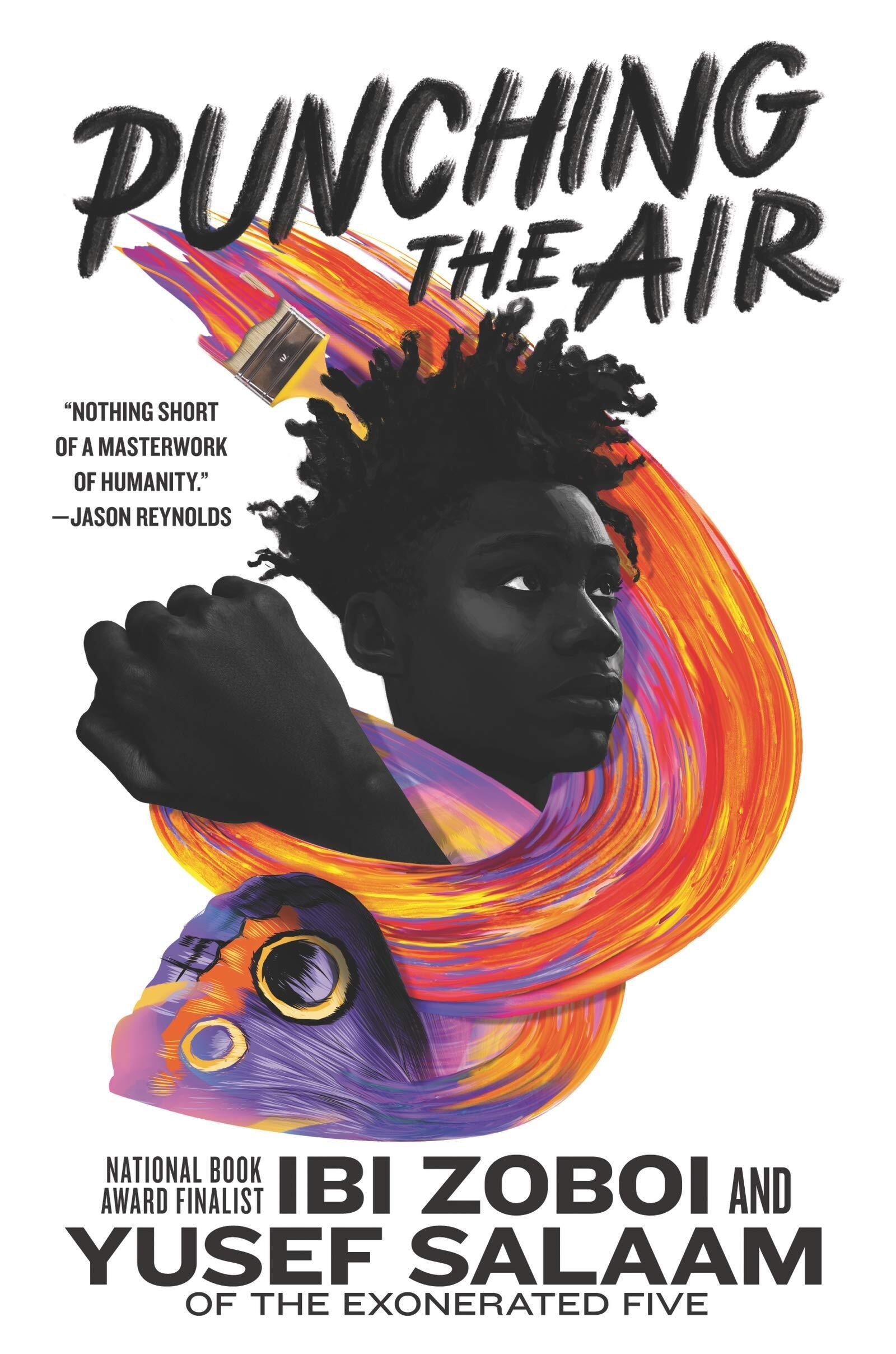 """Punching the air"" book cover"