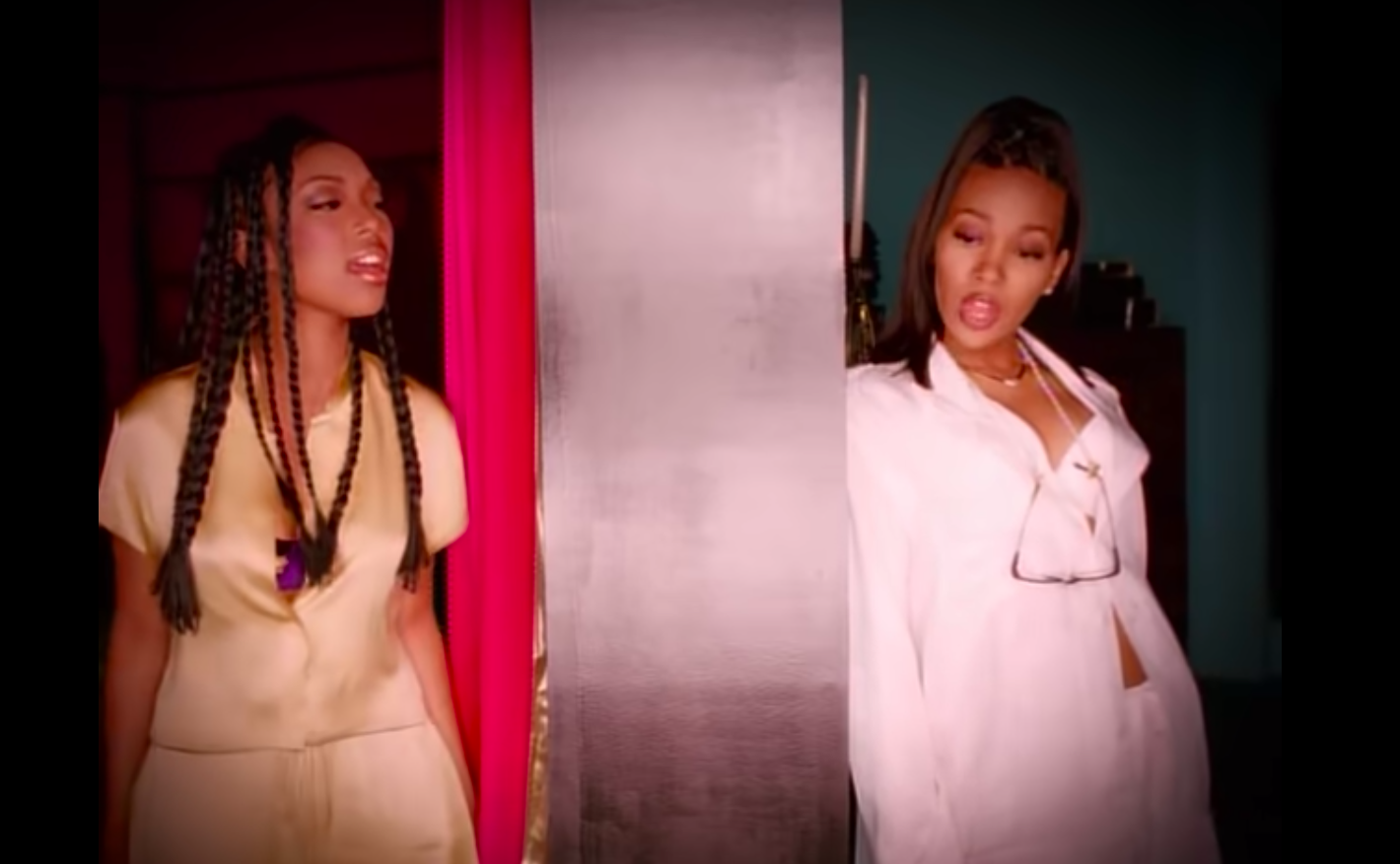 "Monica and Brandy appear in 1998's ""The Boy Is Mine"" music video."