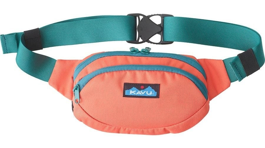 KAVU Spectator Waist Pack with two separate compartments in a color block design