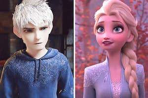 Elsa and Jack standing side by side
