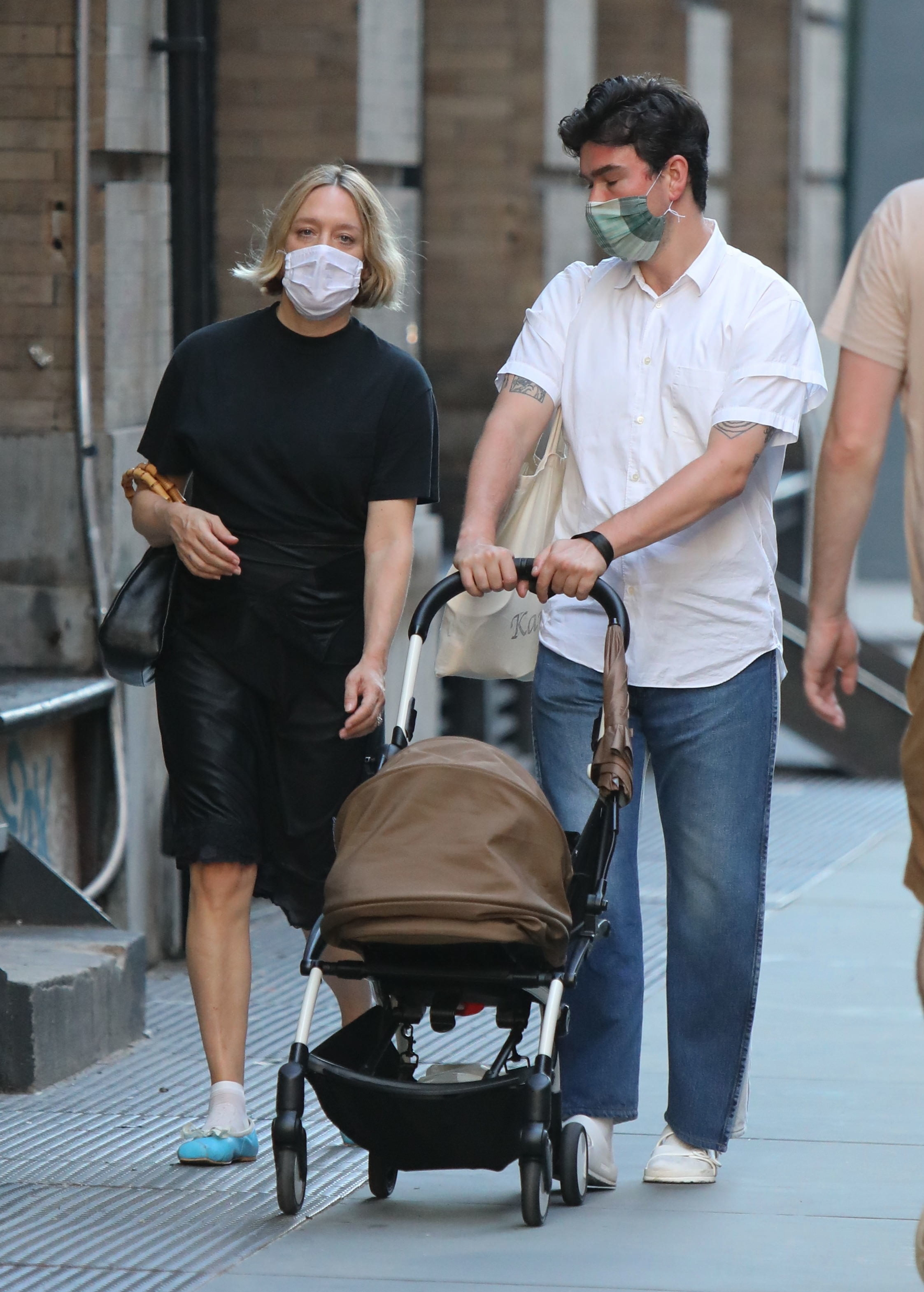 Chloe Sevigny and Sinisa Mackovic are seen on August 11, 2020 in New York City.