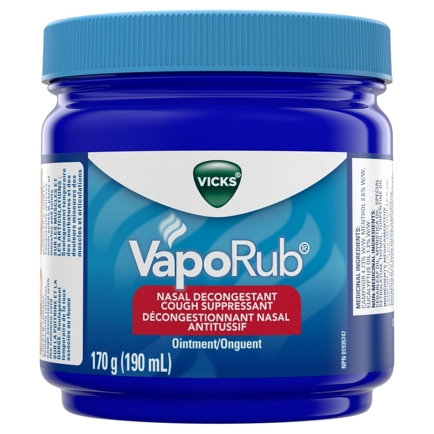 A jar of Vick VapoRub