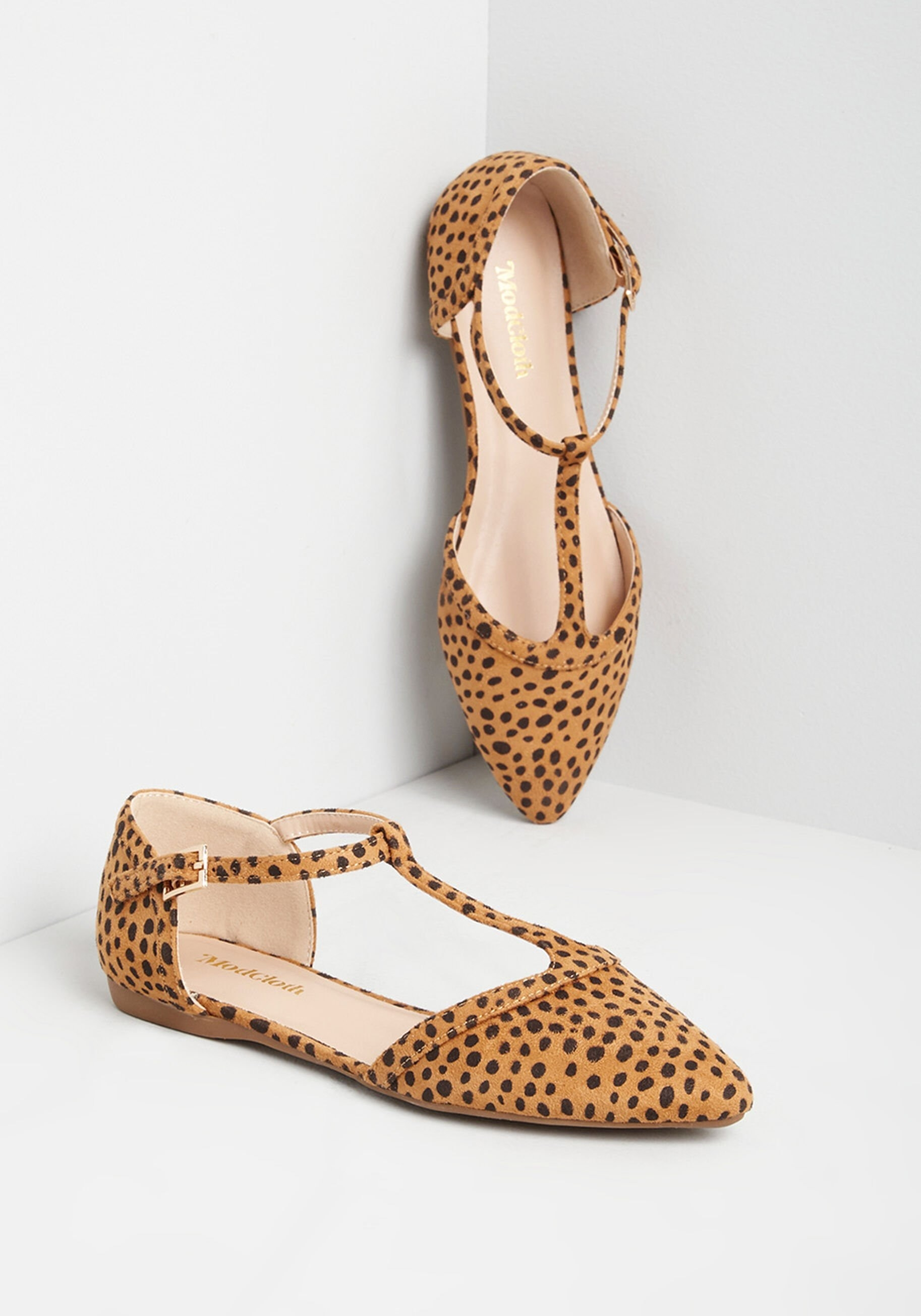 cheetah print flat shoes