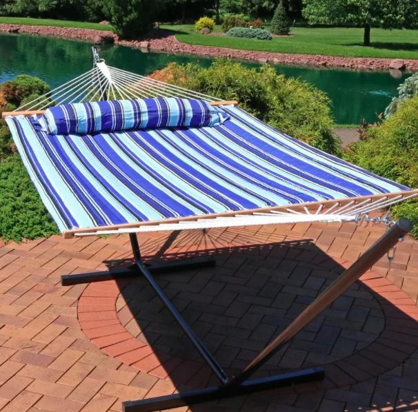 the hammock in blue