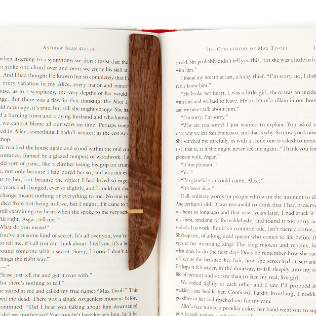 the bookmark in an open book
