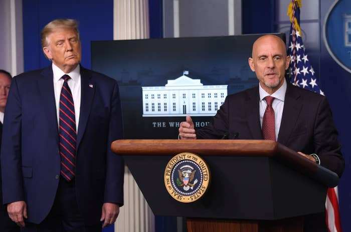 FDA Commissioner Stephen Hahn and President Donald Trump announced an emergency authorization of plasma from recovered coronavirus patients on Aug. 23.