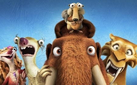 Manny the Mammoth and the film's other characters