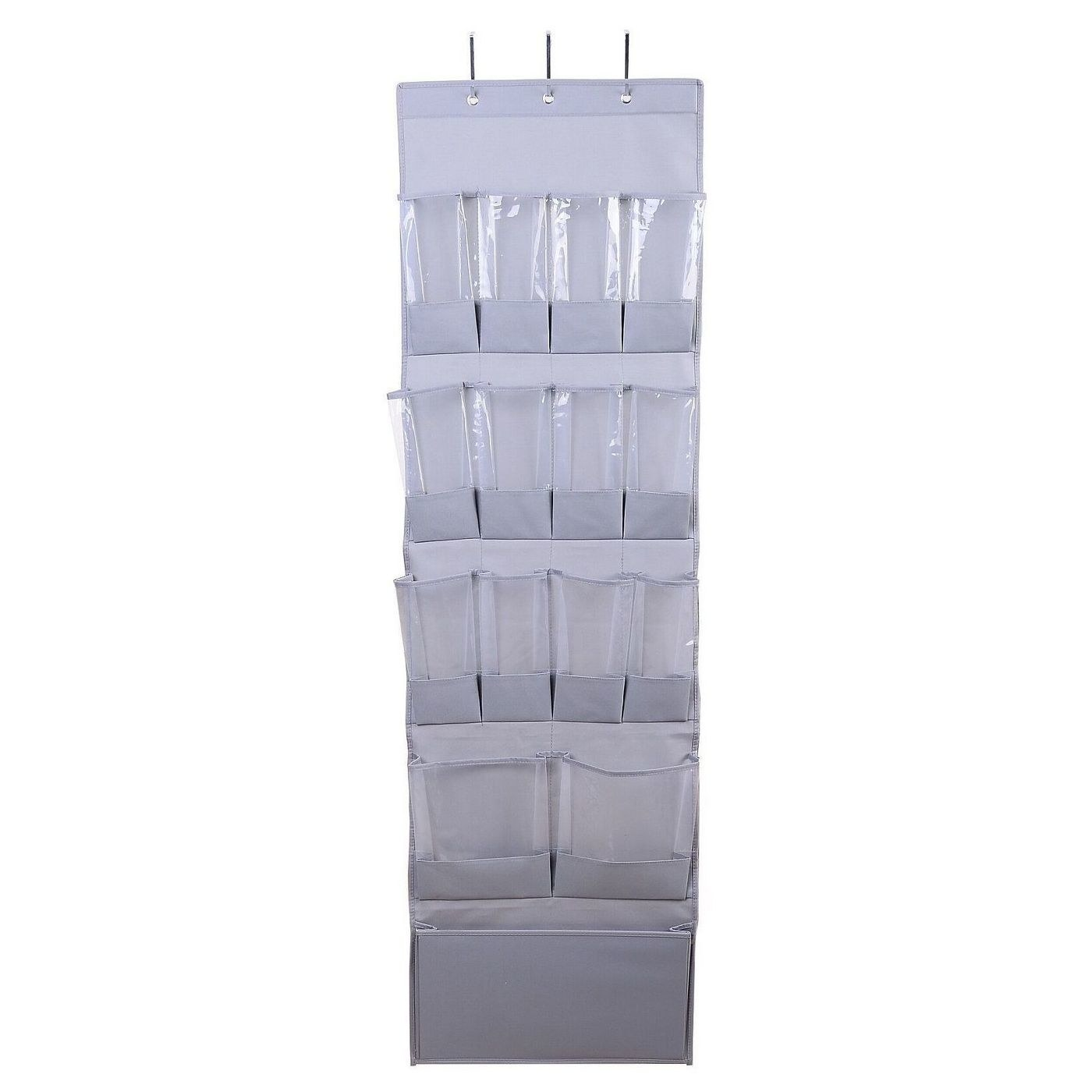 Gray shoe organizer