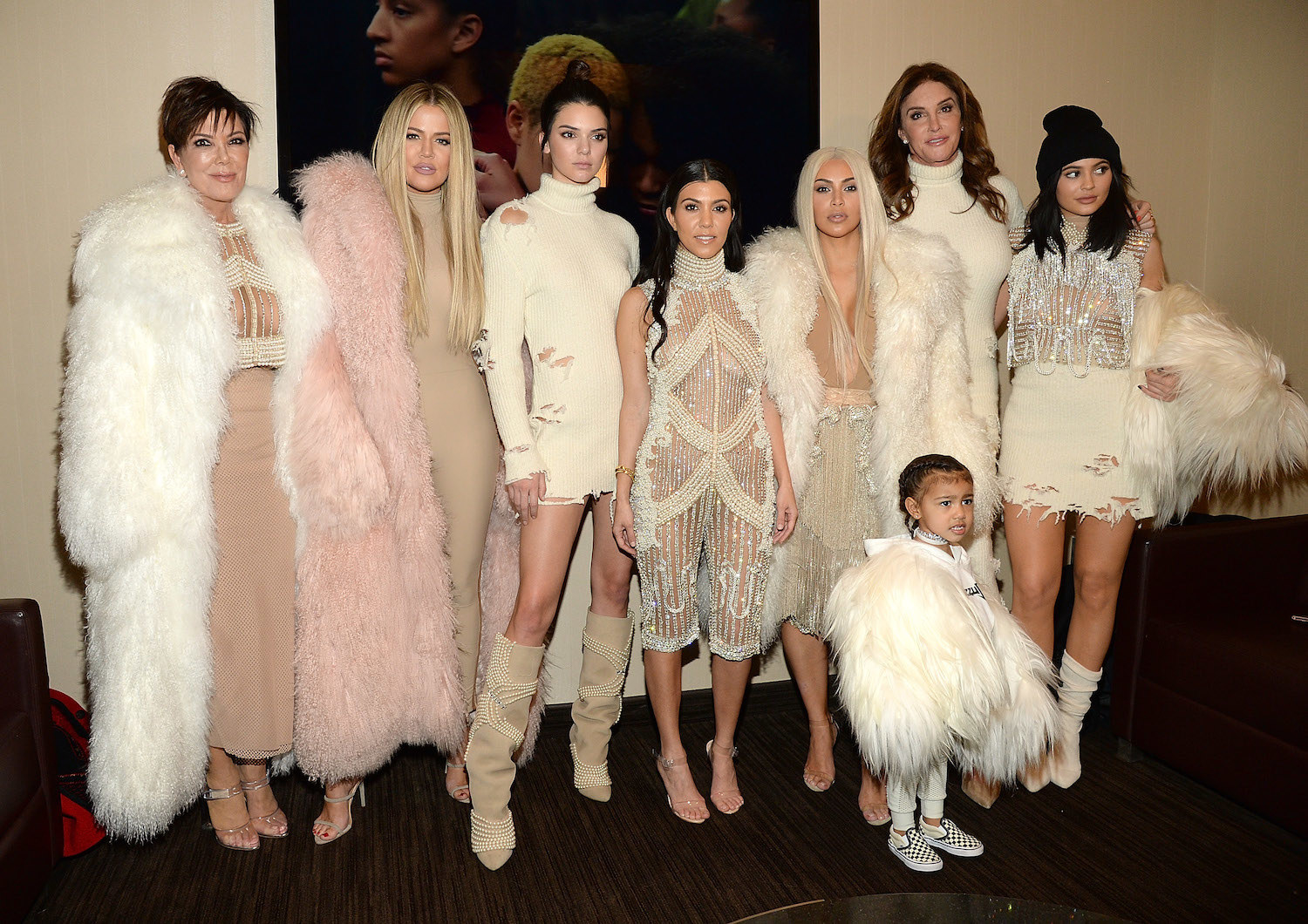 The Kardashians attend Kanye West Yeezy Season 3 at Madison Square Garden on February 11, 2016 in New York City.
