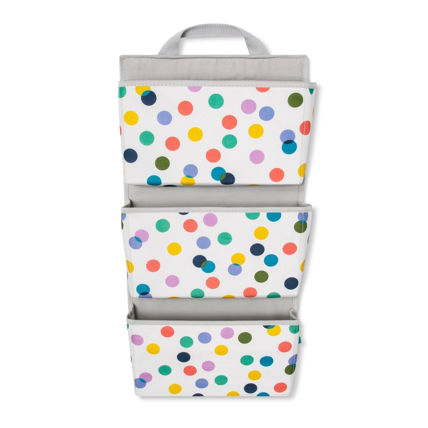 Hanging wall storage with polka dots