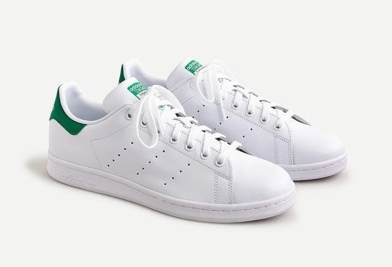 The Adidas white and green sneakers
