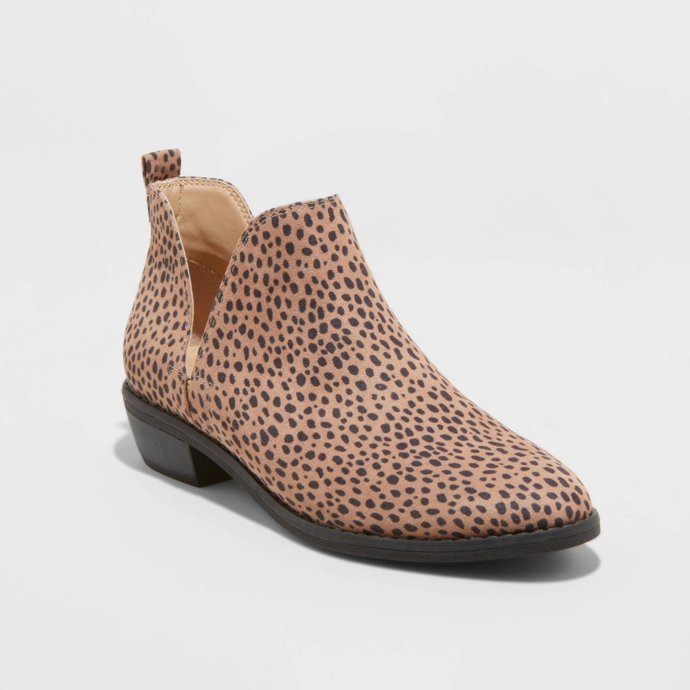 The cheetah print cutout ankle booties