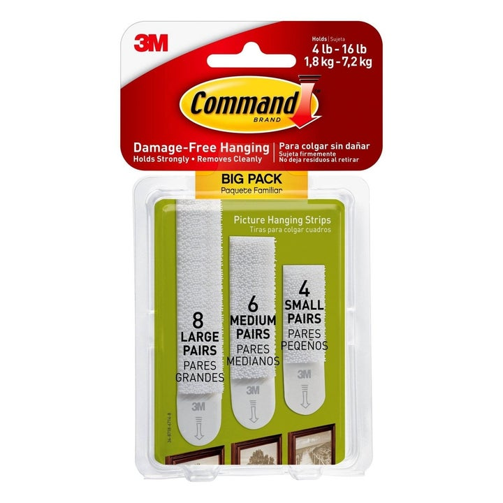command strips in three different sizes