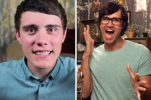 Alfie Deyes and Link from