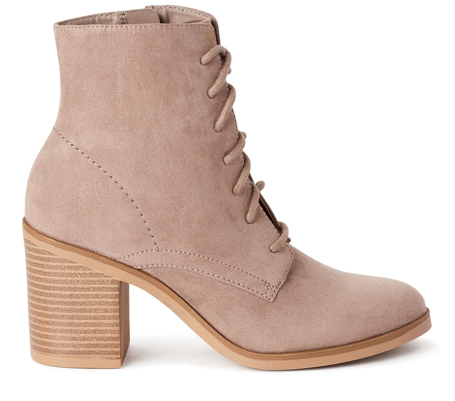 The suede bootie