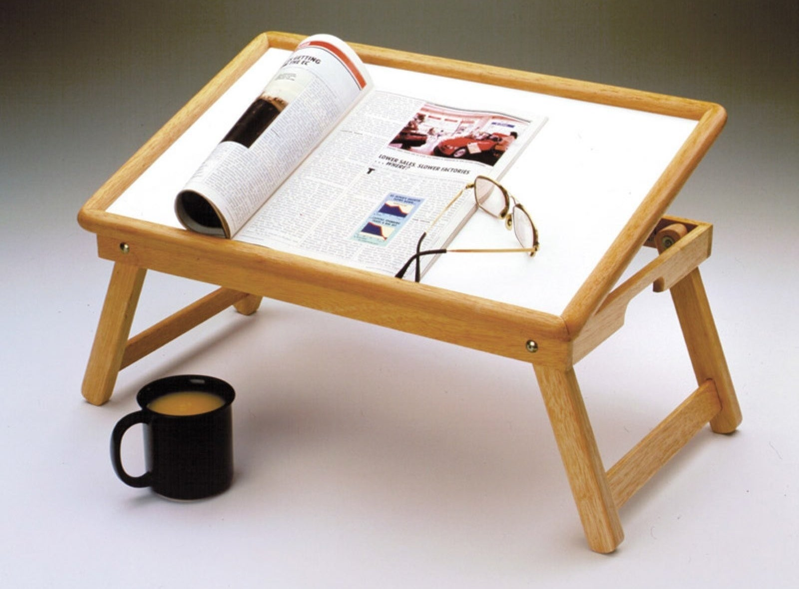 Beechwood Flip-Top Bed Tray