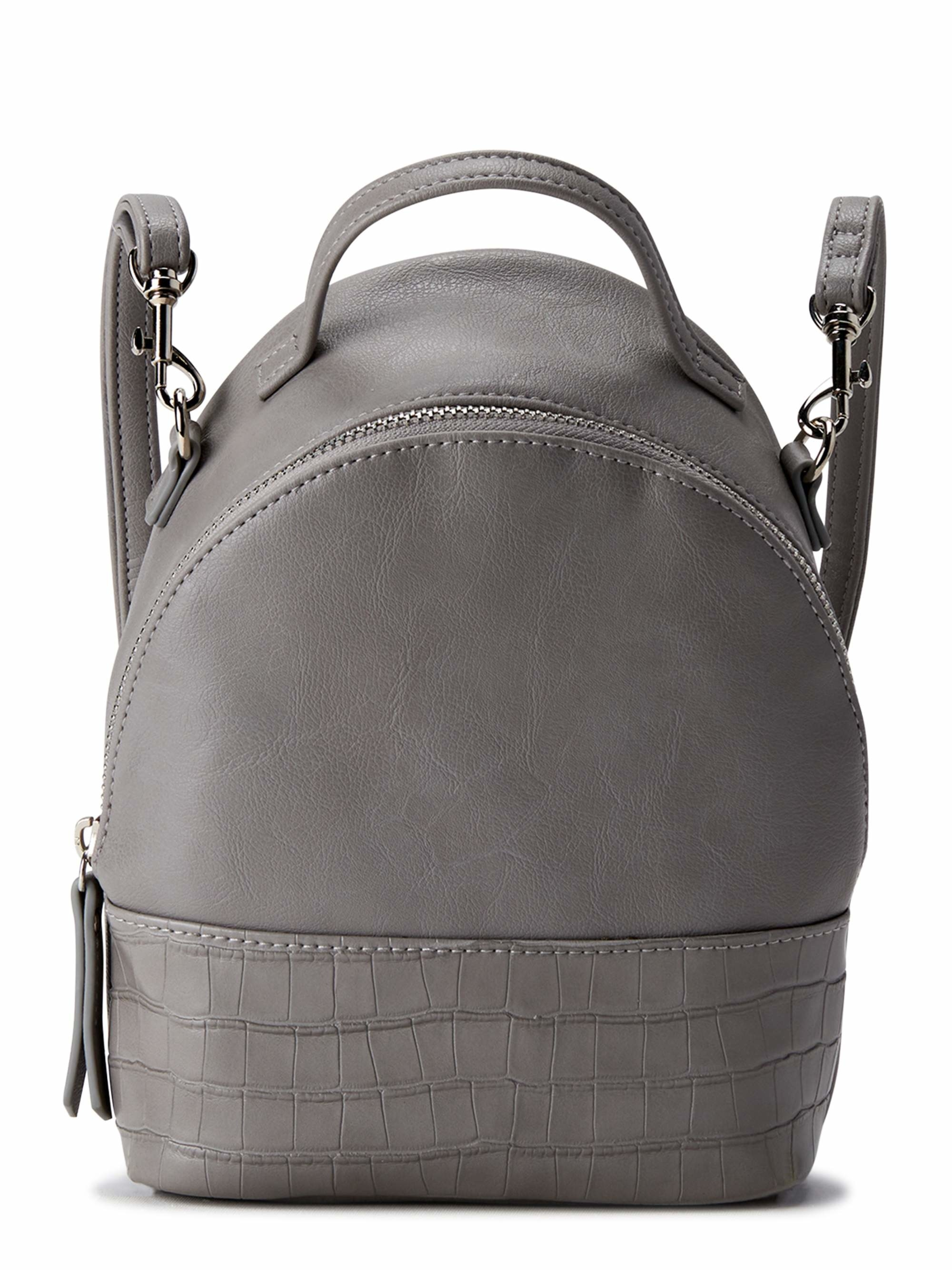 The faux leather backpack