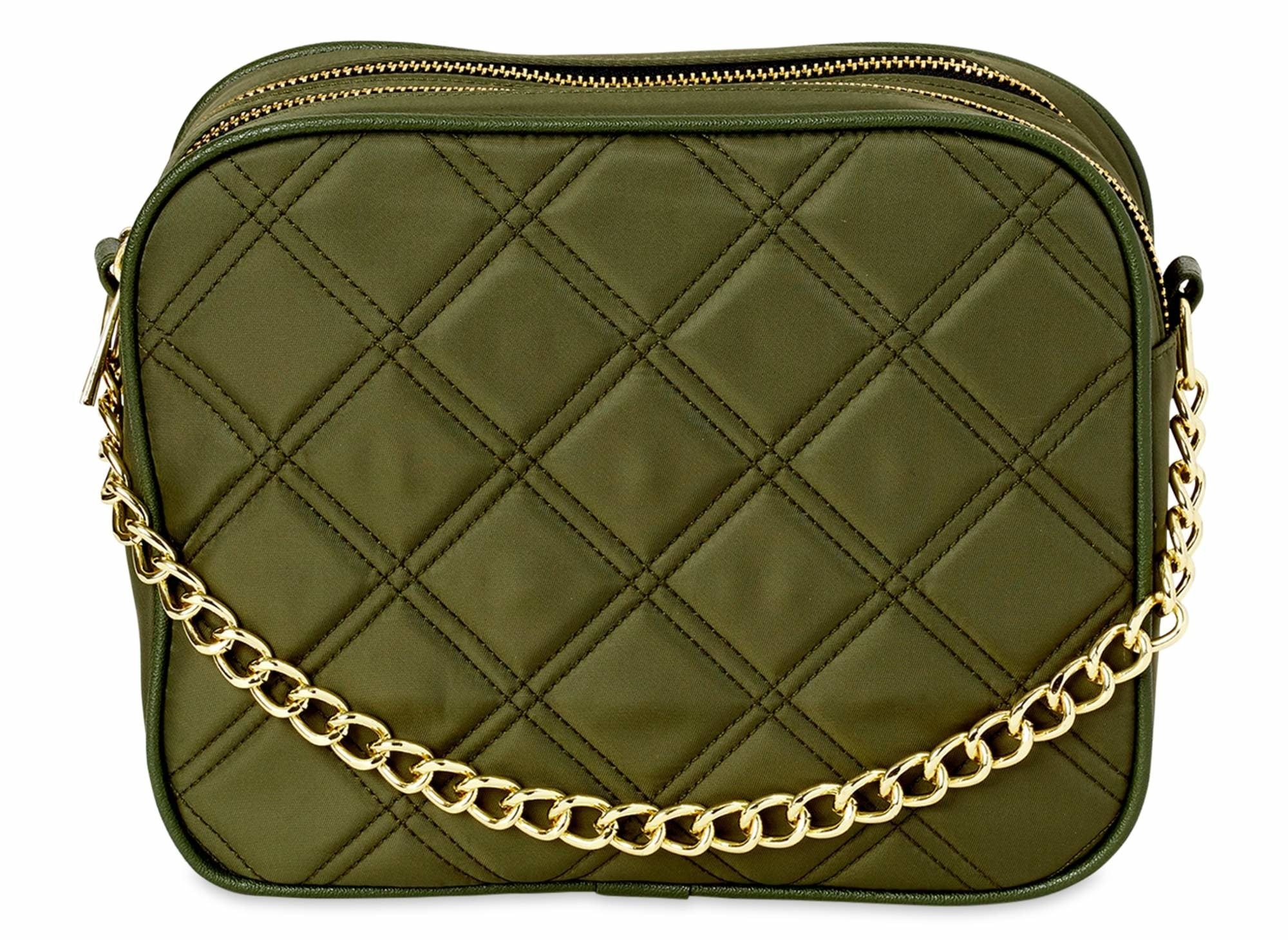 The bag in olive green