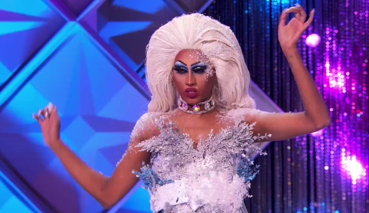 A close-up screenshot of Priyanka from the Ice Queen Eleganza challenge