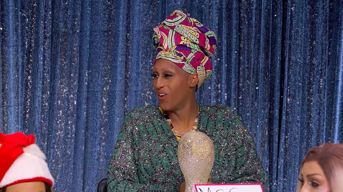 A screenshot of Priyanka as Miss Cleo during the Snatch Game