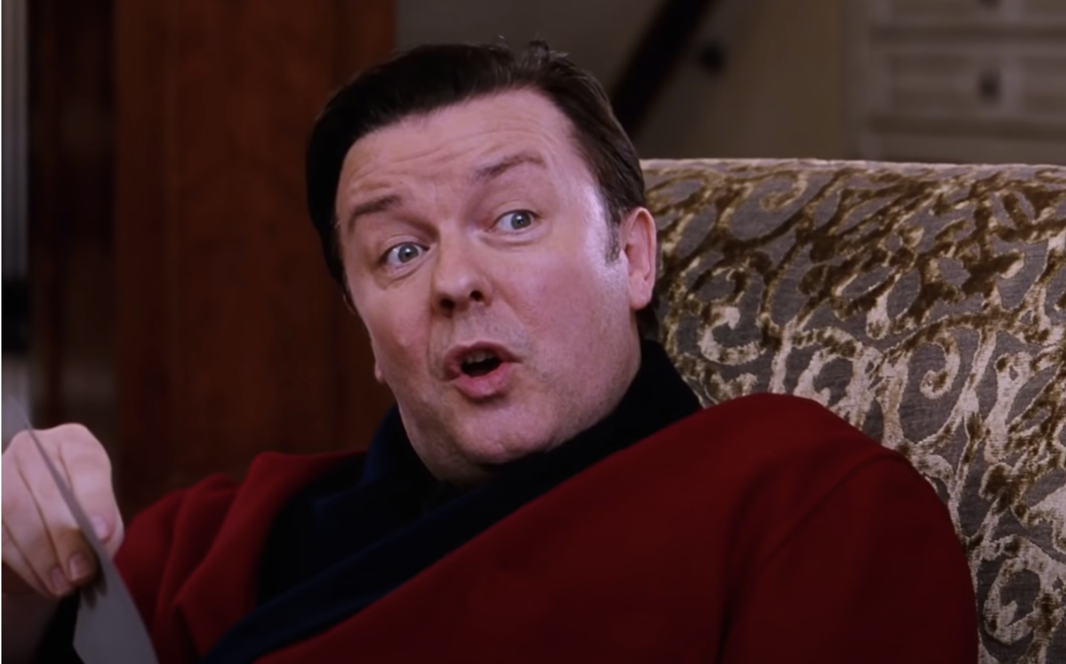 Ricky Gervais in the film