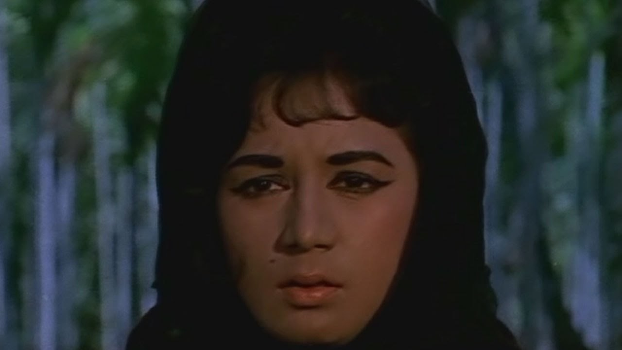 Actress nanda in a still from the movie gumnaam