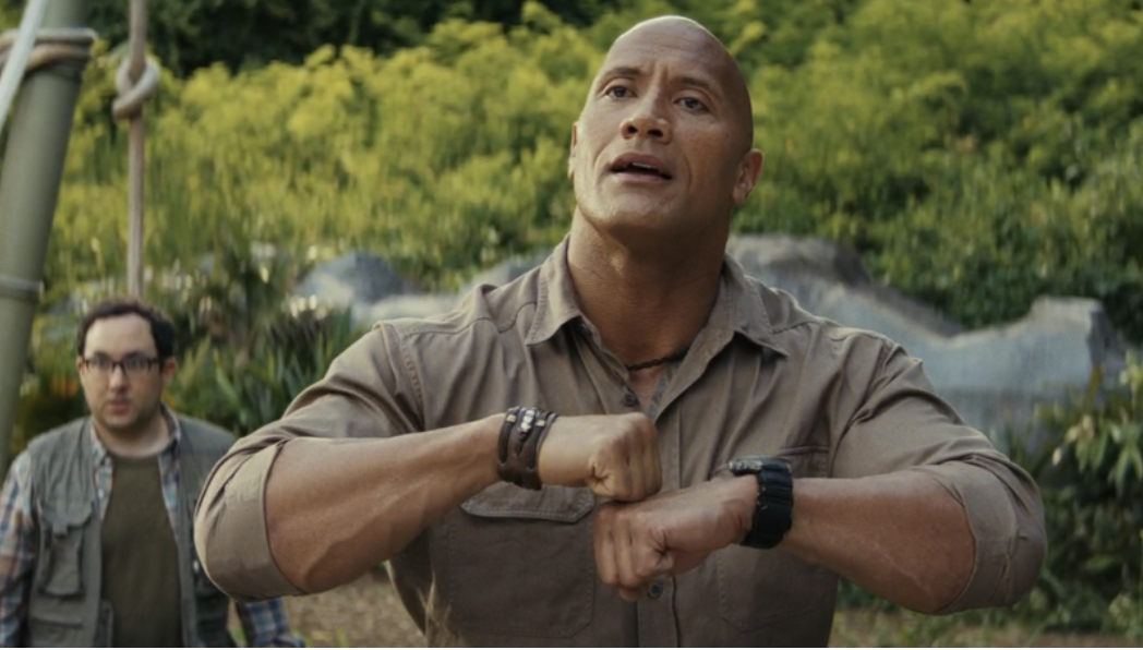 The Rock does sign language in the film