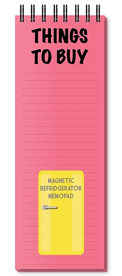 Pink memo pad.
