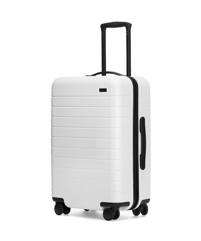 The white roller bag