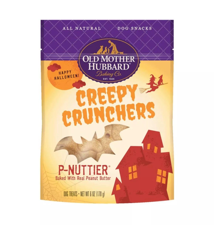 A bag of the tan, peanut-butter dog treats