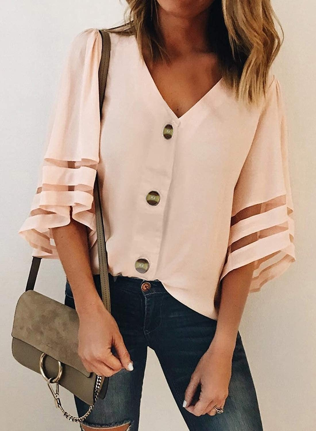 the top in Apricot