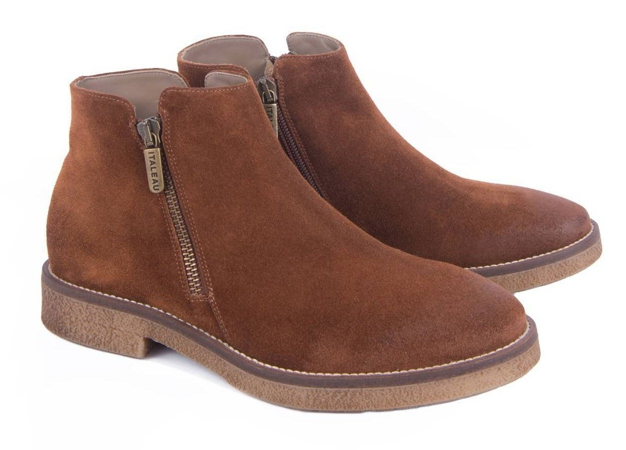 the brown suede booties