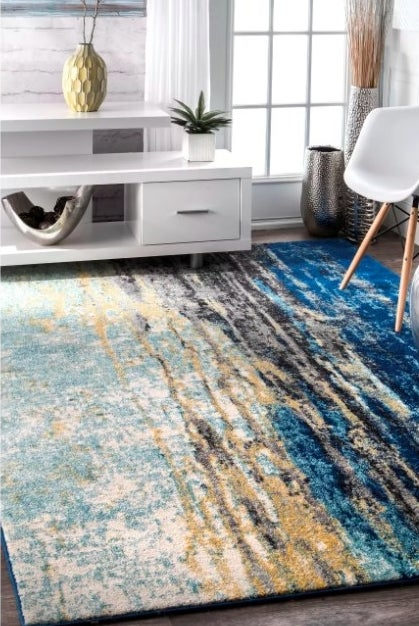The blue gradient rug