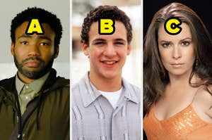 Earn from Atlanta, Cory from Boy Meets World, and Piper from Charmed